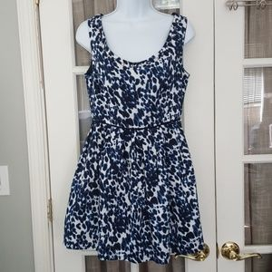 Forever 21 Painted Bluish Black Spots Party Dress